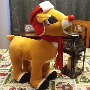 "Rudolph Holiday - 22"" Rudolph Reindeer Porch Greeter Sitter"